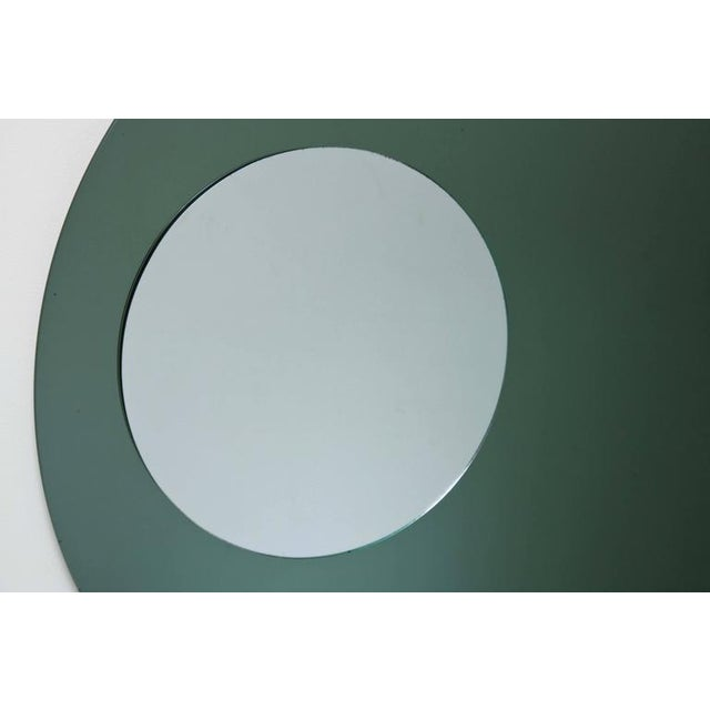 Rectangular and Round Modernist Mirrors with 3d Circles - A Pair For Sale In Miami - Image 6 of 6