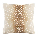 """Image of Fawn Natural Oga Pillow, 20"""" X 20"""" For Sale"""
