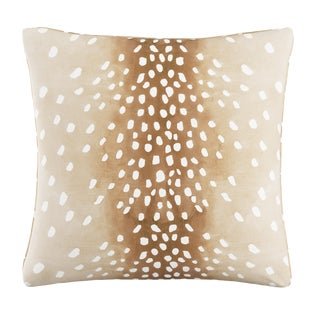 "Fawn Natural Oga Pillow, 20"" X 20"" For Sale"