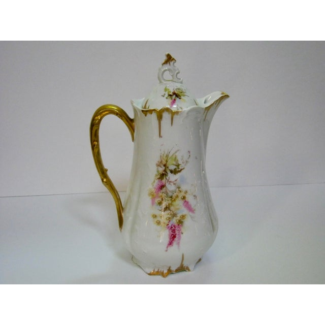 Cottage Antique German Hand Decorated Chocolate / Cocoa Pot For Sale - Image 3 of 8