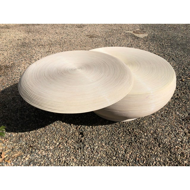 Gabriela Crespi Style Mid-Century Modern Round Cocktail Table For Sale - Image 9 of 13