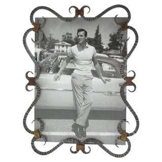 French 1940s Modernist Cast Iron Picture Photo Frame For Sale
