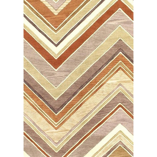 """Pasargad Ny Modern Hand Tufted Area Rug - 5'4"""" X 7'7"""" For Sale - Image 4 of 4"""