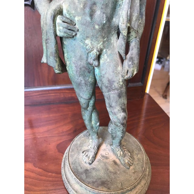 Mid 19th Century Two 19th Century Grand Tour Nude Male Statues of Roman Gods For Sale - Image 5 of 11