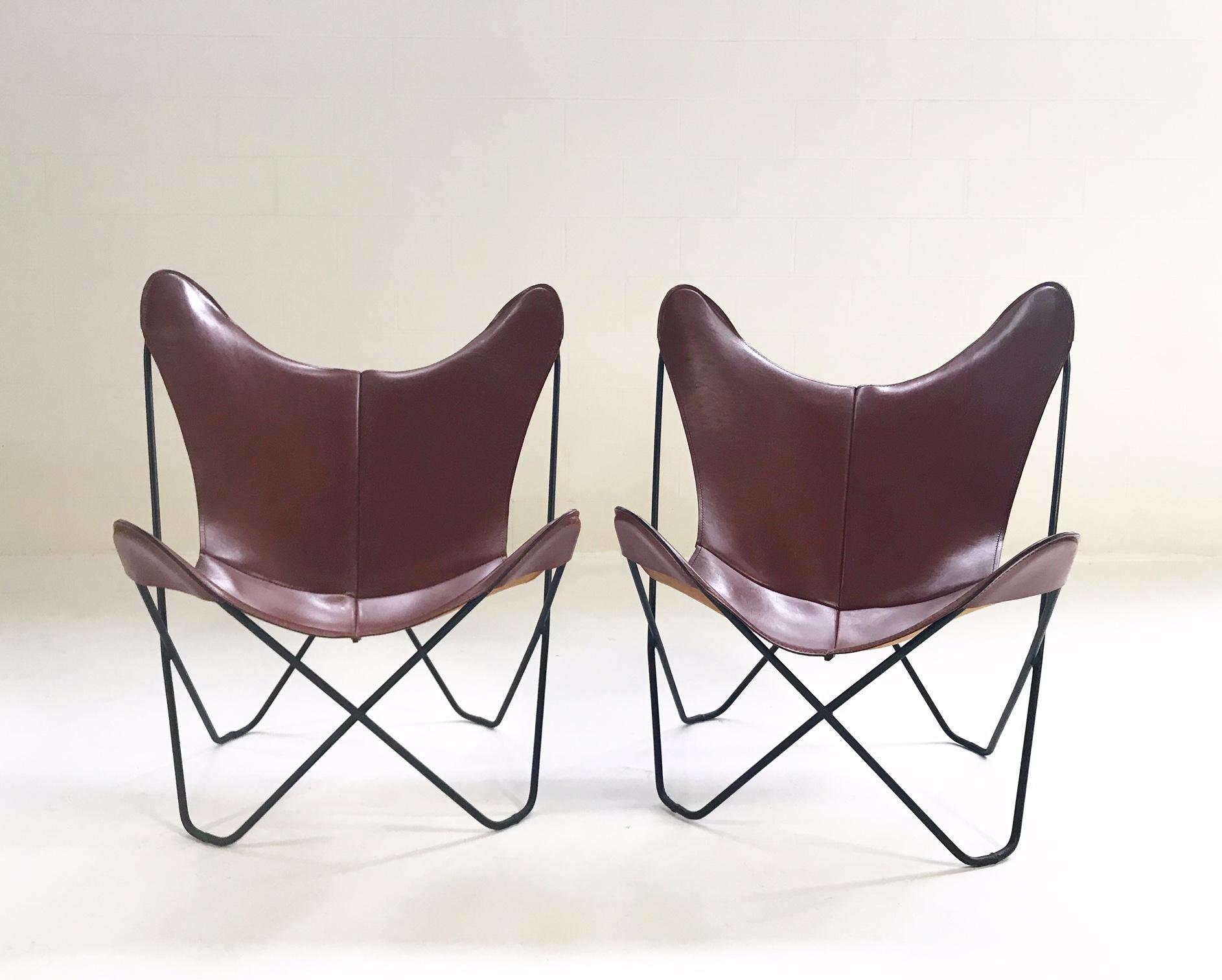 Great Vintage Antonio Bonet, Juan Kurchan, And Jorge Ferrari Hardoy For Knoll  Butterfly Chairs With