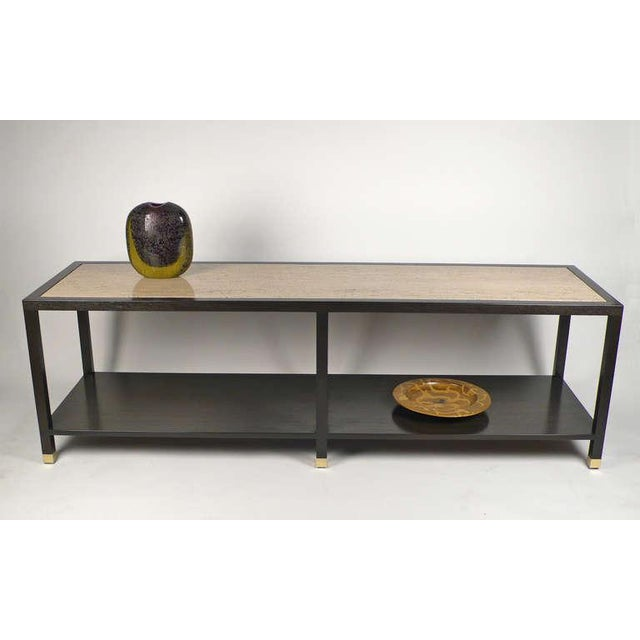 Modern Harvey Probber Travertine Console Table For Sale - Image 3 of 10