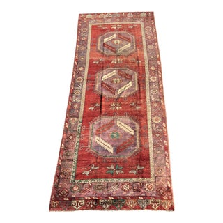 "Vintage Turkish Oushak Runner - 5' X 13'3"" For Sale"