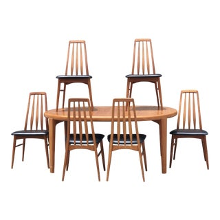 Vintage Niels Koefoed Dining Chairs & Nordic Trends Inc Dining Table - Set of 7
