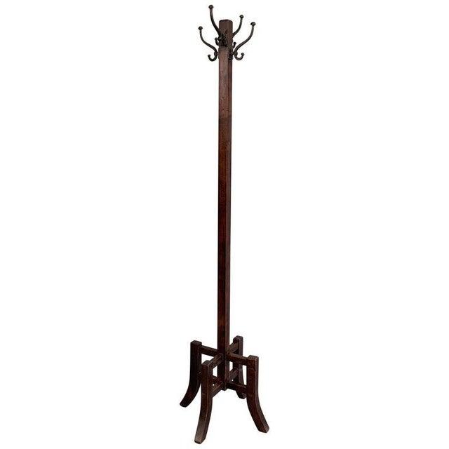 Metal Arts & Crafts Standing Maple Coat Rack For Sale - Image 7 of 7