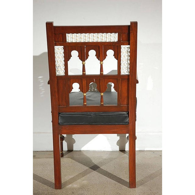 Pair of Moroccan Moorish Armchairs For Sale - Image 4 of 9