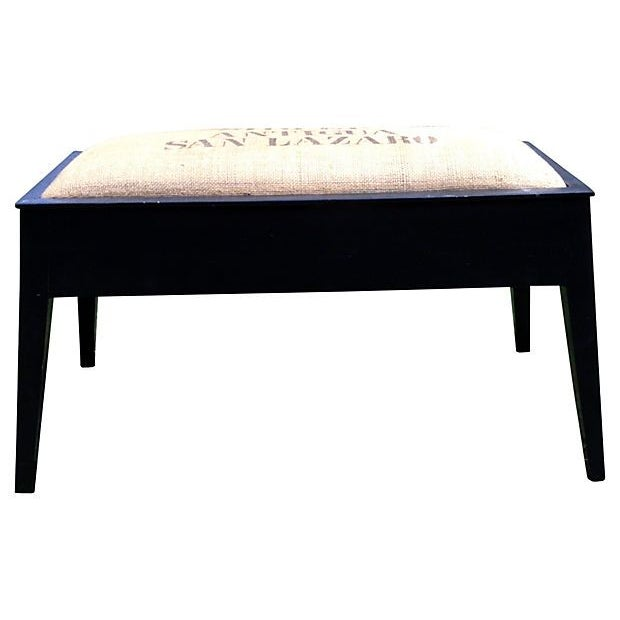Stenciled Coffee Bench - Image 2 of 5