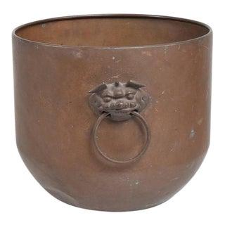 Hollywood Regency Brass Planter Bowl