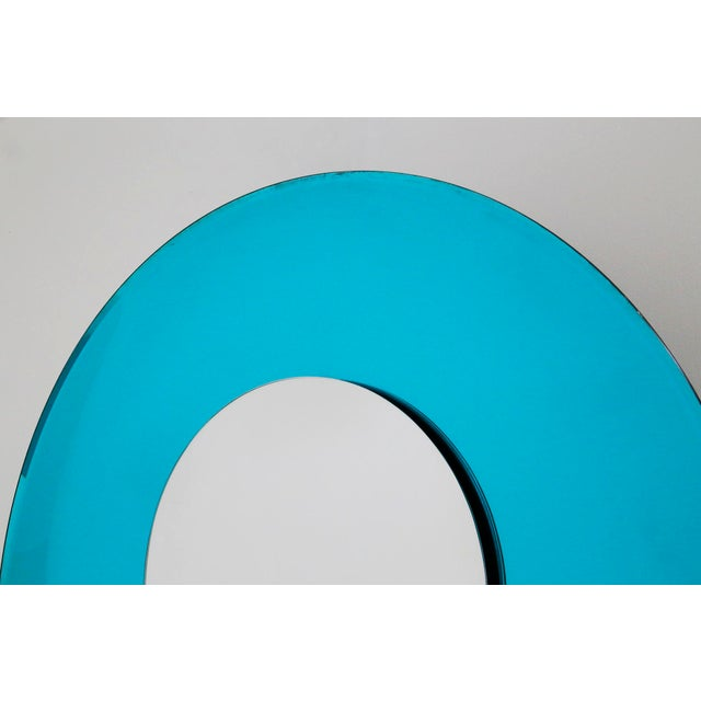 Mirror Blue Contemporary Fashion in Style Fontana Arte by Effetto Vetro, 2010 For Sale - Image 6 of 11