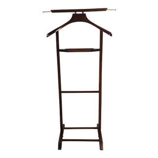 Vintage 1960s Italian Mahogany Men's Valet Stand For Sale