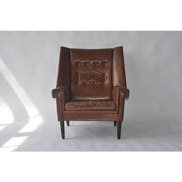 High Back Danish Lounge Chair - Image 2 of 7