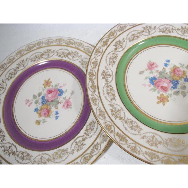 Ceramic Edgerton Pickard M&r Marks & Rosenfeld Pink Rose Spray Dessert Plates - Set of 24 For Sale - Image 7 of 11