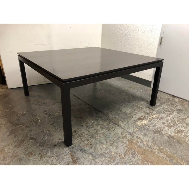 Contemporary Custom Square Oak Dining Table For Sale - Image 4 of 8