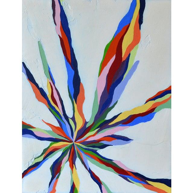 """Pastel Beams"" Abstract Painting - Image 1 of 3"