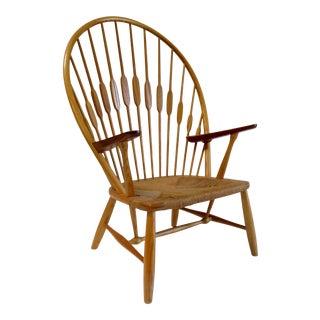 """Vintage Danish Modern Original Hans Wegner for Johannes Hansen """"Peacock"""" Arm Chair C.1960s Denmark, Signed For Sale"""