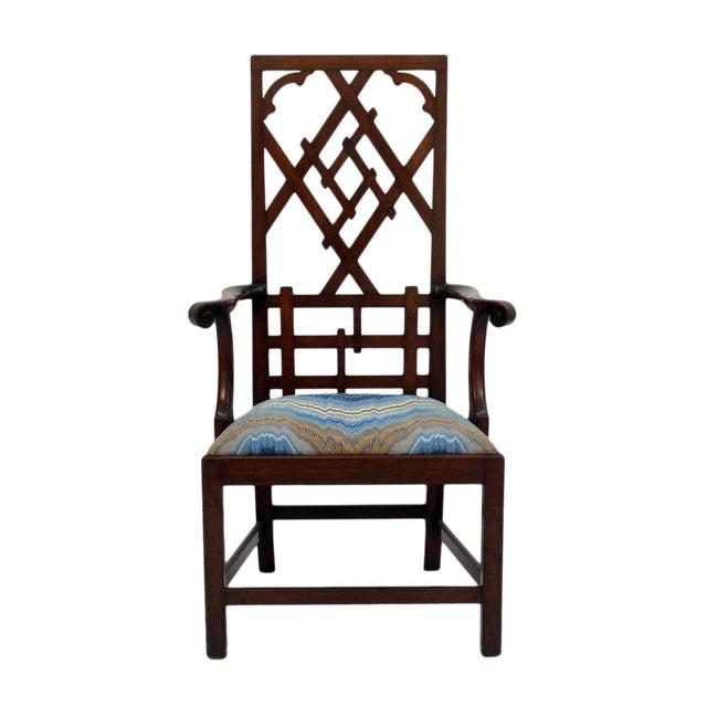 High-back Diamond Fret Chair For Sale