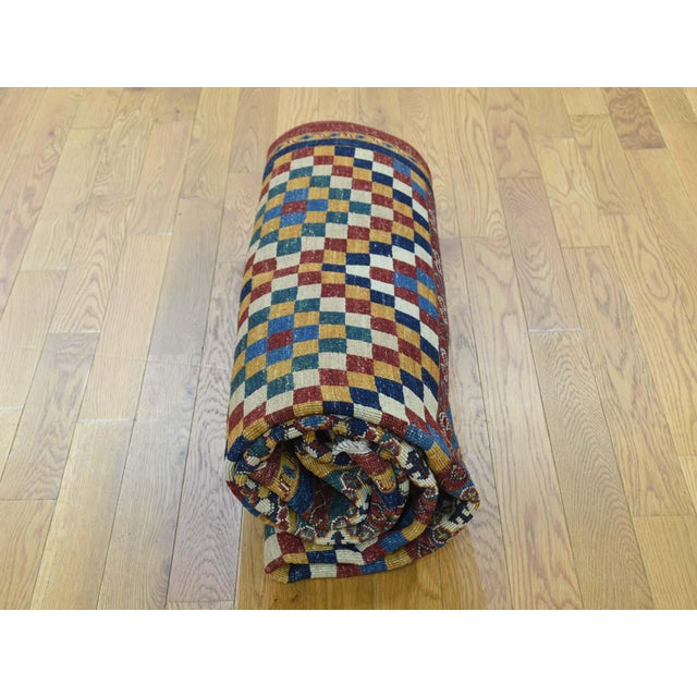 Kazak Khorjin Hand-Knotted Pure Wool Rug For Sale - Image 10 of 13