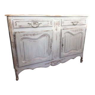 19th Century French Louis XV Painted Buffet For Sale