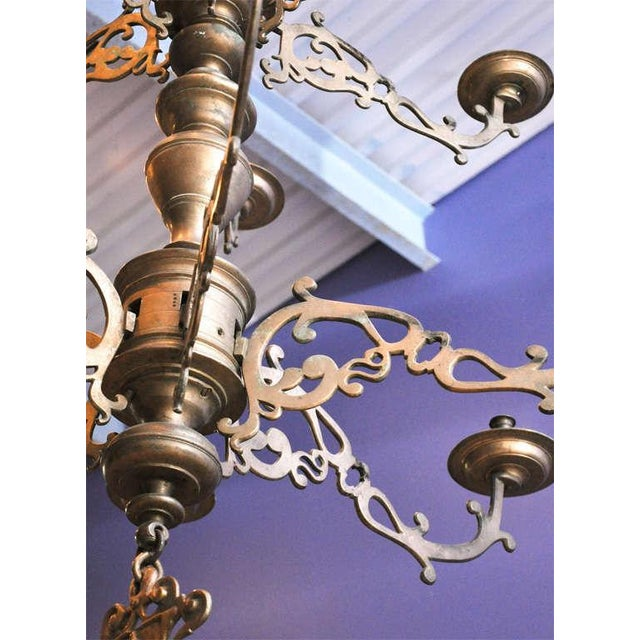 Spanish Bronze Chandelier - Image 6 of 7