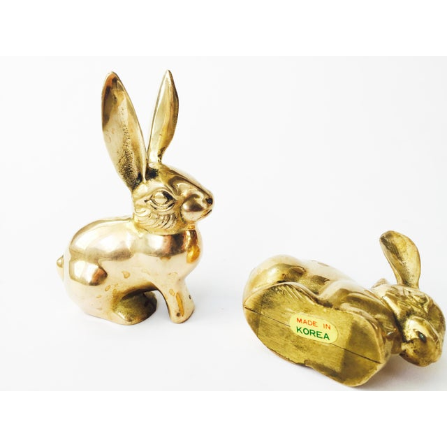Vintage Brass Rabbit Figurines - A Pair - Image 6 of 6