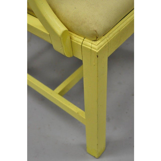 Chinoiserie Hollywood Regency Yellow Fretwork Armchairs - a Pair For Sale - Image 10 of 11