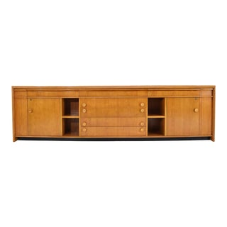 1940s Paul Frankl Custom Birch Cabinet For Sale