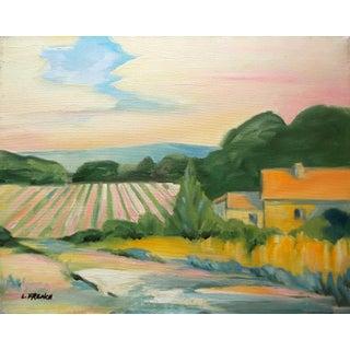 Lynne French California Plein Air Landscape Farm House Painting For Sale