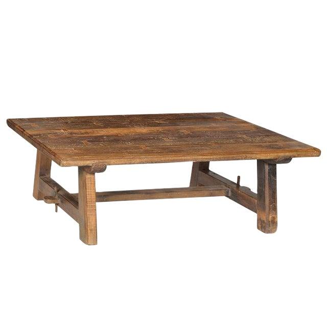 Old Teak Farm Coffee Table - Image 1 of 2