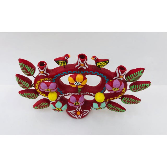Hand Crafted Mexican Tree of Life Candelabra For Sale - Image 4 of 8