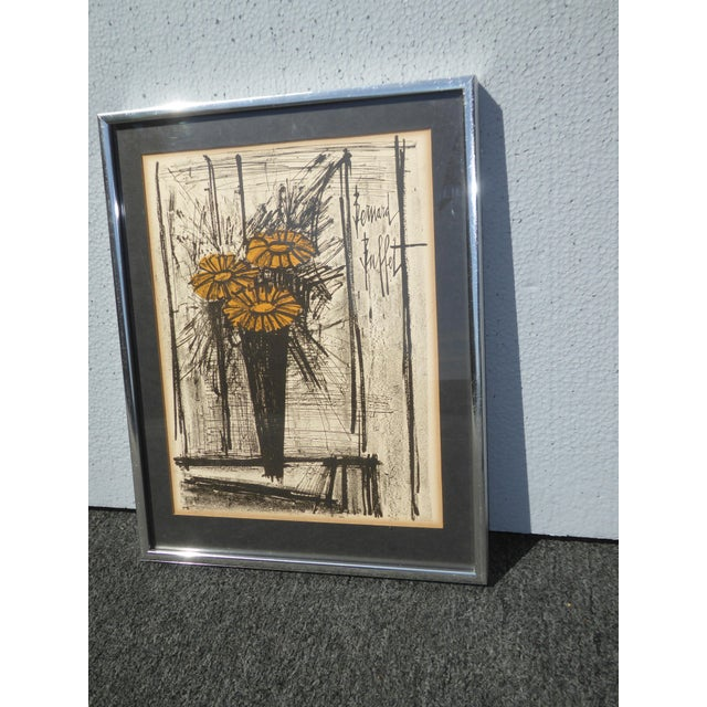 Gorgeous mid century style lithograph by Bernard buffet that you will love having in your home! Framed and matted. This...