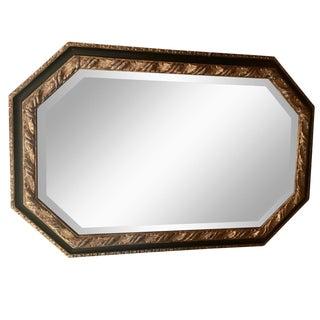 Unusual Vintage Ebanista Lirio Designer Hexagonal Mirror For Sale