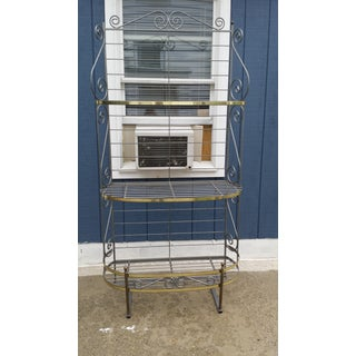 Vintage Brass Bakers Rack Preview