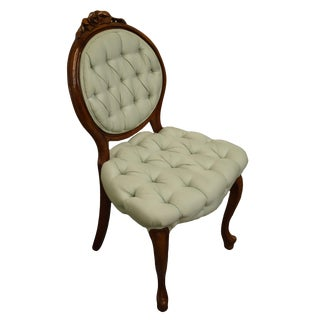 1940's Vintage Upholstered Accent Parlor Chair For Sale