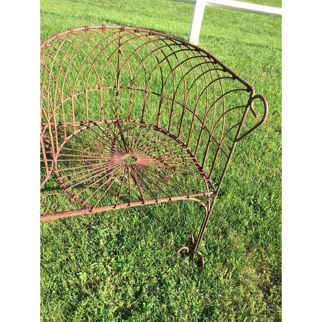 Vintage Iron Garden Tete-A-Tete For Sale - Image 5 of 9