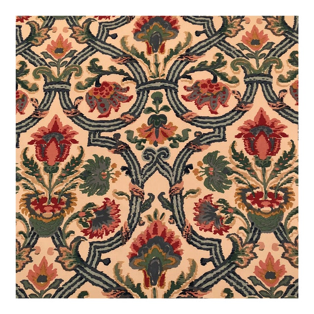 "Lee Jofa's ""New Sevilla"" in Multi Linen Fabric - Almost 3 Yds - Image 1 of 7"