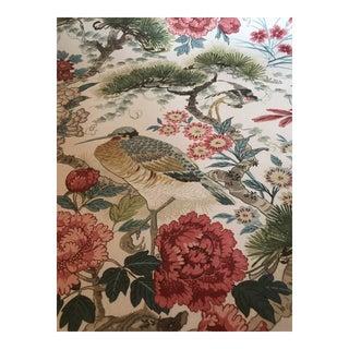 Scalamandre Shenyang Linen Fabric - 2 1/8 Yards For Sale