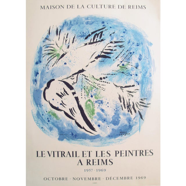 Original French 1969 Marc Chagall Message Biblique Poster For Sale