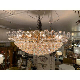 Brass Finish Crystal Ball Ceiling Flush-Mount Preview