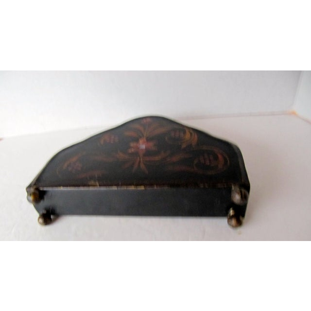 Abstract Vintage Tole Letter Holder For Sale - Image 3 of 4