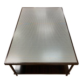 Contemporary Herringbone Coffee Table For Sale