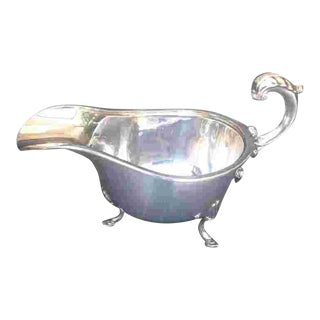 Early 20th C. British Sterling Gravy Boat For Sale