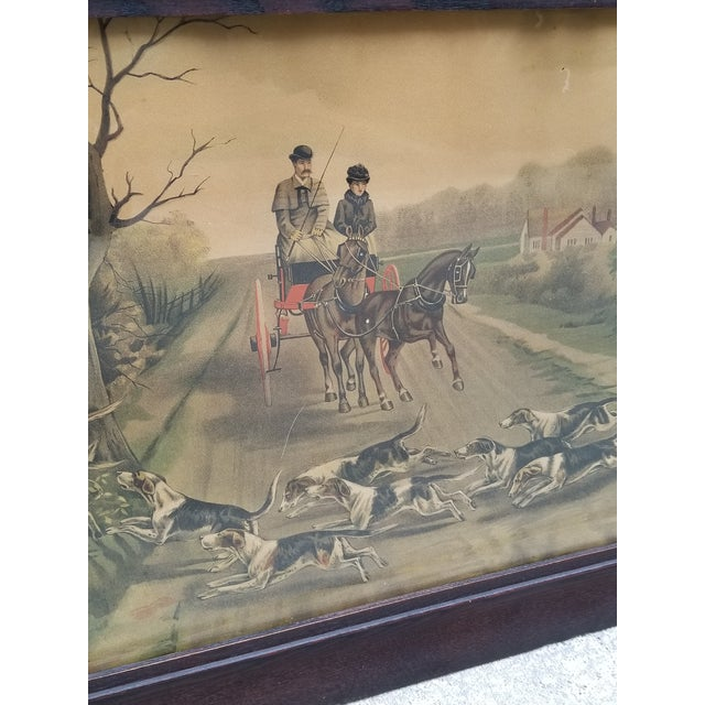 Antique English Hunting Framed Print For Sale In New York - Image 6 of 13