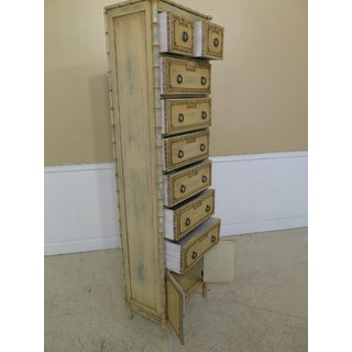 Tall Bamboo Motif Paint Decorated Lingerie Chest Preview