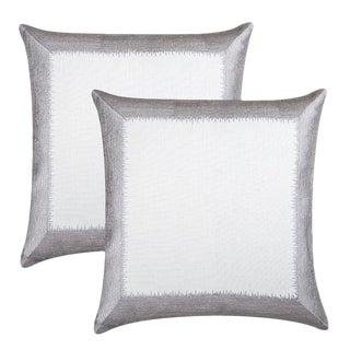 """Piper Collection Silver """"Ella"""" Pillows - A Pair"""
