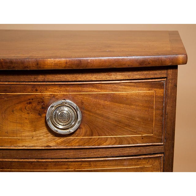 George III Bow-front Mahogany Chest of Drawers For Sale - Image 4 of 6