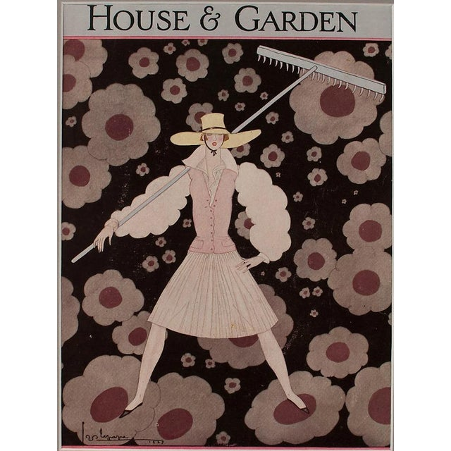1927 House & Garden Print by Georges Lepage - Image 2 of 2